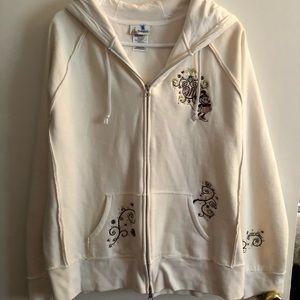 Disneyland/Minnie Mouse Cream Zip Up Sweatshirt